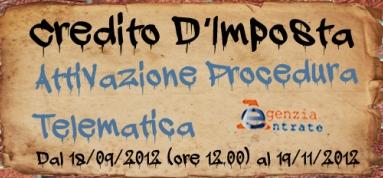 Immagine associata al documento: Credito d'Imposta - Iter Procedurale