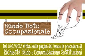 Immagine associata al documento: Dote Occupazionale: Attivazione procedura telematica Richiesta Saldo e Comunicazione Sostituzioni