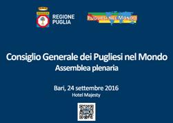 Immagine associata al documento: Consiglio Generale dei Pugliesi nel Mondo: Documento finale 2016