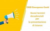 Immagine associata al documento: Art. 1, D.L. n. 104/2020. Nuovi termini decadenziali per la presentazione di istanze di CIGD COVID 19